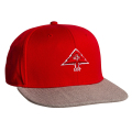 "3D TREE LOGO SNAPBACK HAT ""RED"""