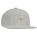 BE GOLD SNAPBACK HAT / ASH HEATHER
