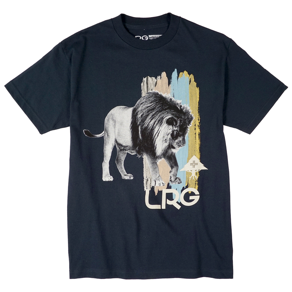"BRUSHED LION TEE ""NAVY"""