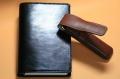 本牛革システム手帳と2本用ペンケース(ブラウン)のコラボセット