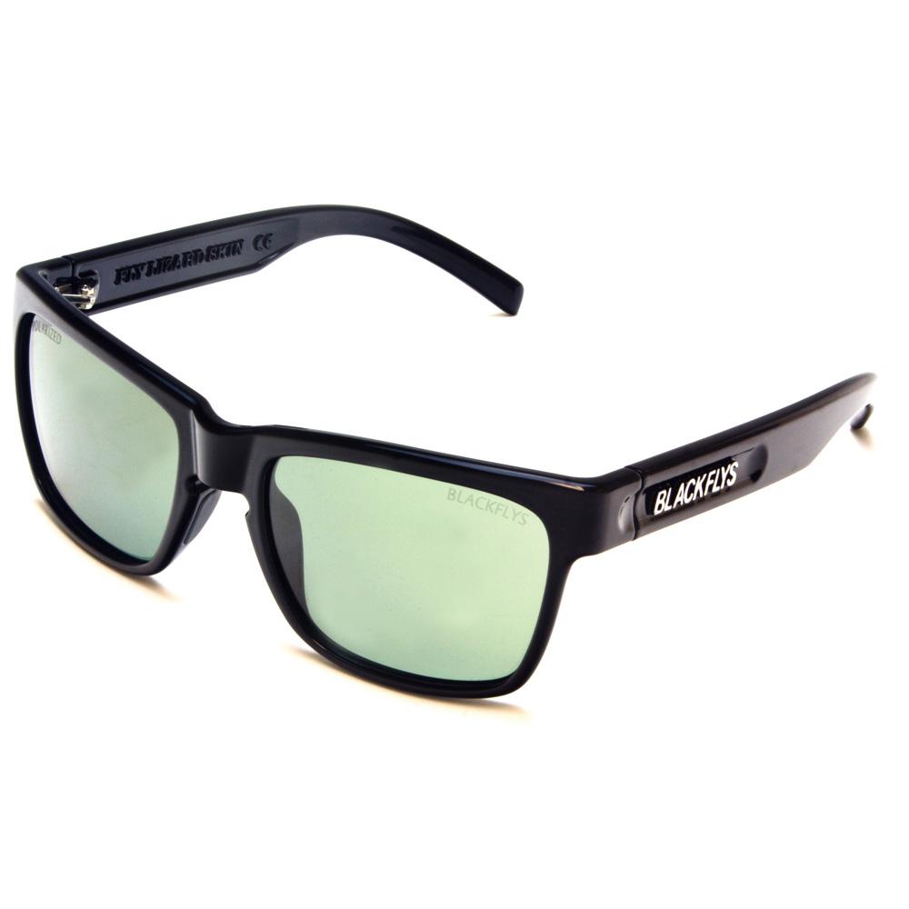 【BLACK FLYS/ブラックフライズ】FLY LIZARD SKIN【サングラス】BLACK/ PC G-15 GREEN POL