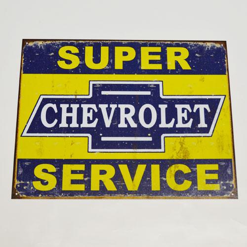 【IMPORT-LA】SUPER CHEVROLET PLATE【プレート】【看板】