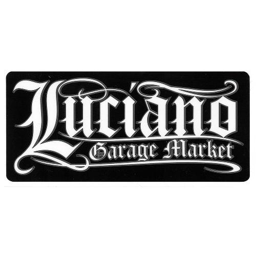 【Luciano Garage Market】LGM OLD-E BLK/WHT STICKER ステッカー