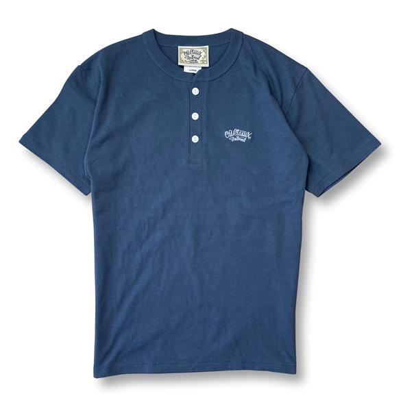 3colors【OG CLASSIX/オージークラシックス】OG EMB HENLEY NECK 6.2oz. TEE【Tシャツ】【6.2oz】【ヘンリーネック】