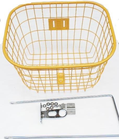 【自転車グッズ】24-26inch用カラーバスケット(四角)(全3カラー)【バスケット】【カゴ】【カスタム】