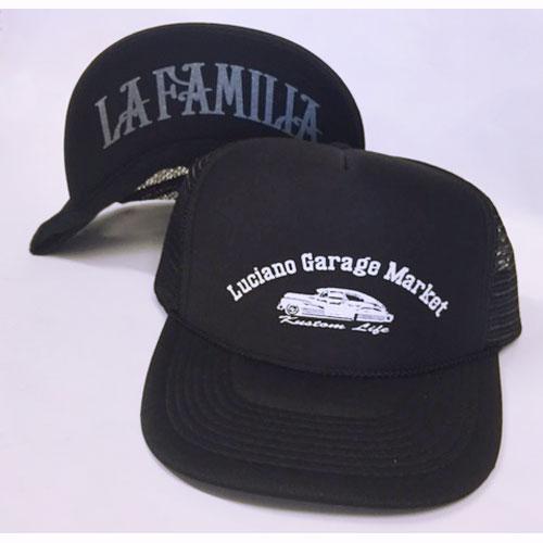 【Luciano Garage Market/ルチアーノガレージマーケット】BOMB LA FAMILIA MESH CAP【メッシュキャップ】