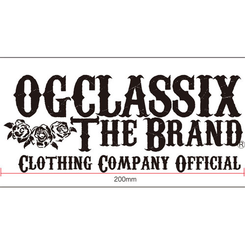 【メール便可】【OG CLASSIX】【オージークラシックス】OFFICIAL CLOTHING STICKER【ステッカー】