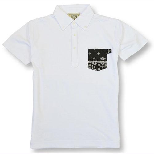 【OG CLASSIX/オージークラシックス】CROSS BANDANA POLO SHIRTS【半袖ポロシャツ】【ポケット付き】【バンダナ】【クロス】