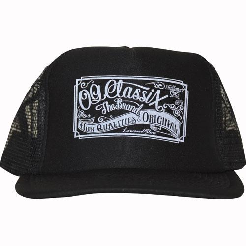 【OG CLASSIX/オージークラシックス】OG SIGN CROSS MESH CAP【メッシュキャップ】【ロゴ】【ツバ裏】