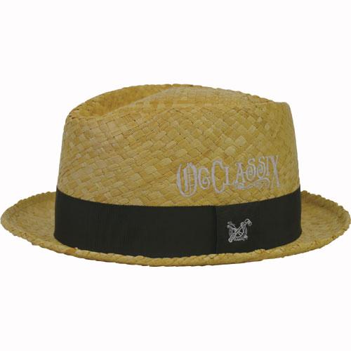 【OG CLASSIX/オージークラシックス】DIAMOND RAFIA HAT【ストローハット】【帽子】【ロゴ】
