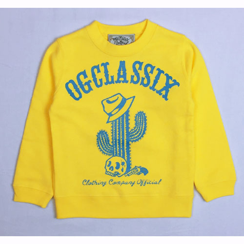 【OG CLASSIX/オージークラシックス】CACTUS KID'S SWEAT【キッズ】【スウェット】【トレーナー】【カクタス】【サボテン】【110cm/130cm/150cm】