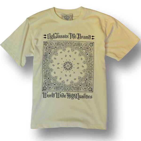 【KIDS】【OG CLASSIX/オージークラシックス】FRONT BANDANA KIDS TEE【Tシャツ】【5.6oz】【キッズ】【バンダナ】【半袖】