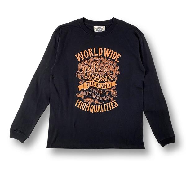 【KIDS】【OG CLASSIX/オージークラシックス】WORLD QUALITIES KIDS LONG SLEEVE【Tシャツ】【長袖】【キッズ】