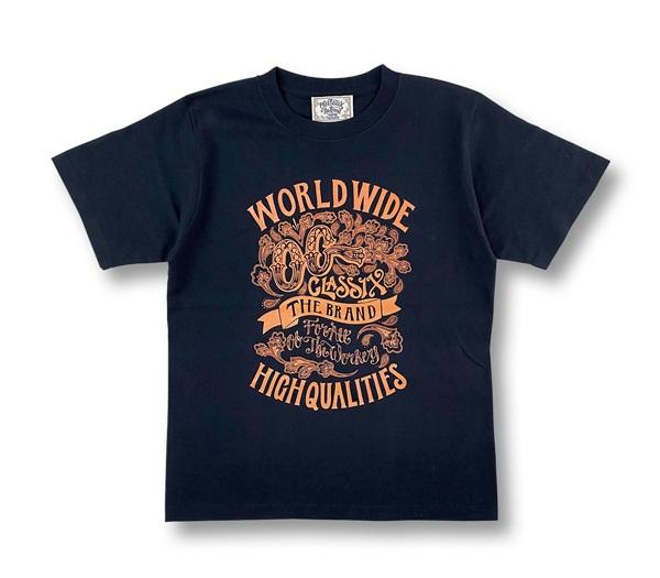 【KIDS】2colors【OG CLASSIX/オージークラシックス】WORLD QUALITIES KIDS TEE【Tシャツ】【5.6oz】【キッズ】【半袖】