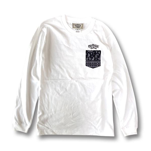 【KIDS】2colors【OG CLASSIX/オージークラシックス】PAISLEY POCKET BANDANA KIDS LONG SLEEVE【Tシャツ】【長袖】【キッズ】