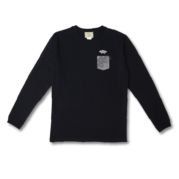 【OG CLASSIX/オージークラシックス】BANDANA POCKET HECHO EN OG 5.6oz. LONG SLEEVE【Tシャツ】【長袖】【5.6oz.】