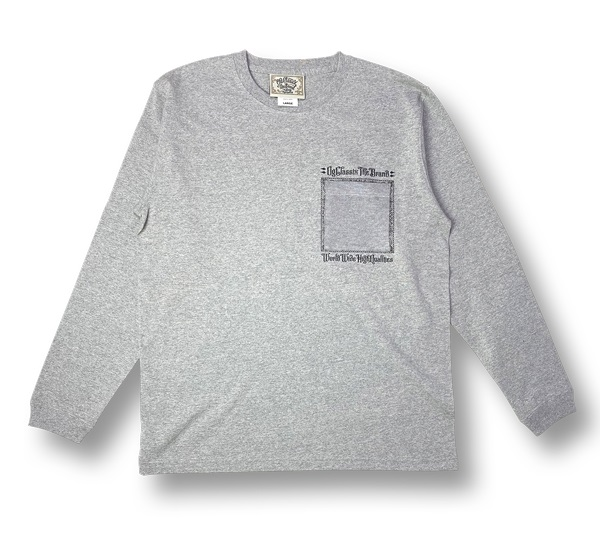 【OG CLASSIX/オージークラシックス】BOX POCKET 7.1oz. LONG SLEEVE【Tシャツ】【長袖】【7.1oz.】【サラペ】【ポケット】