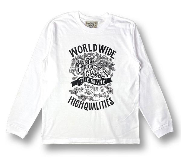 【OG CLASSIX/オージークラシックス】WORLD QUALITIES 5.6oz. LONG SLEEVE【Tシャツ】【長袖】【5.6oz.】