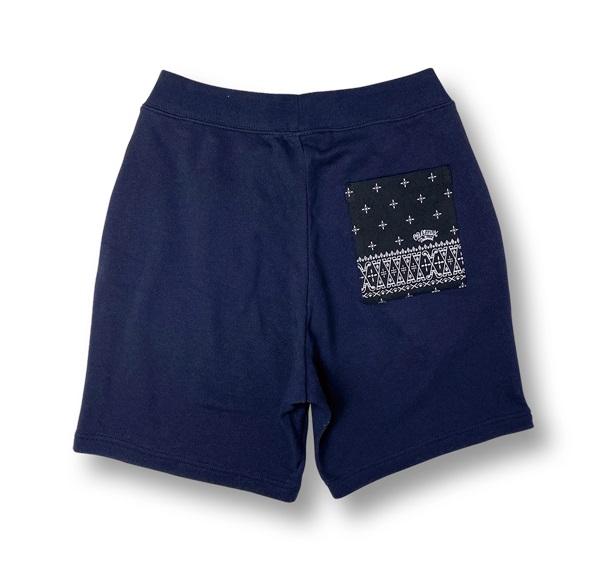 【OG CLASSIX/オージークラシックス】BANDANA POCKET SWEAT SHORT PANTS【ショートパンツ】【スウェットパンツ】【バンダナ】