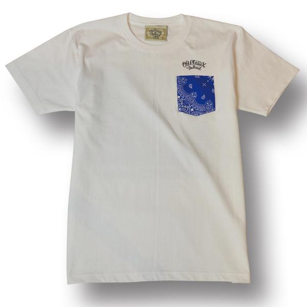 【OG CLASSIX/オージークラシックス】POCKET BANADANA TEE【Tシャツ】【7.1oz】【ペイズリー】【ポケット】【バンダナ】【ブルー】【BLUE】
