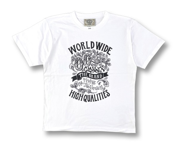 【OG CLASSIX/オージークラシックス】WORLD QUALITIES 6.2oz.TEE【Tシャツ】【6.2oz】
