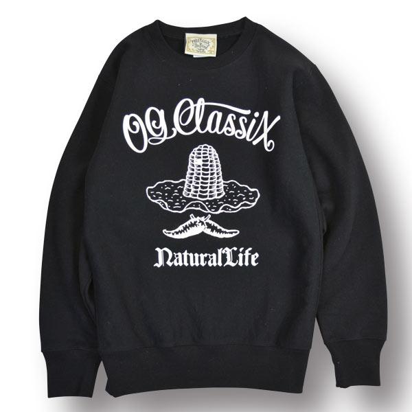 【OG CLASSIX/オージークラシックス】NATURAL LIFE SWEAT SHIRT【スウェット】【パーカー】【裏起毛】【12オンス】