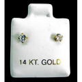 【14K GOLD】ZIRCONIA PIERCE(S)