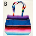 【MEXICO】メキシコ SERAPE BAG W ZIP TOP(B) バッグ