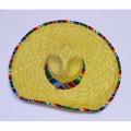 【MEXICO】SERAPE TRIM PALM SOMBRERO【ソンブレロ】