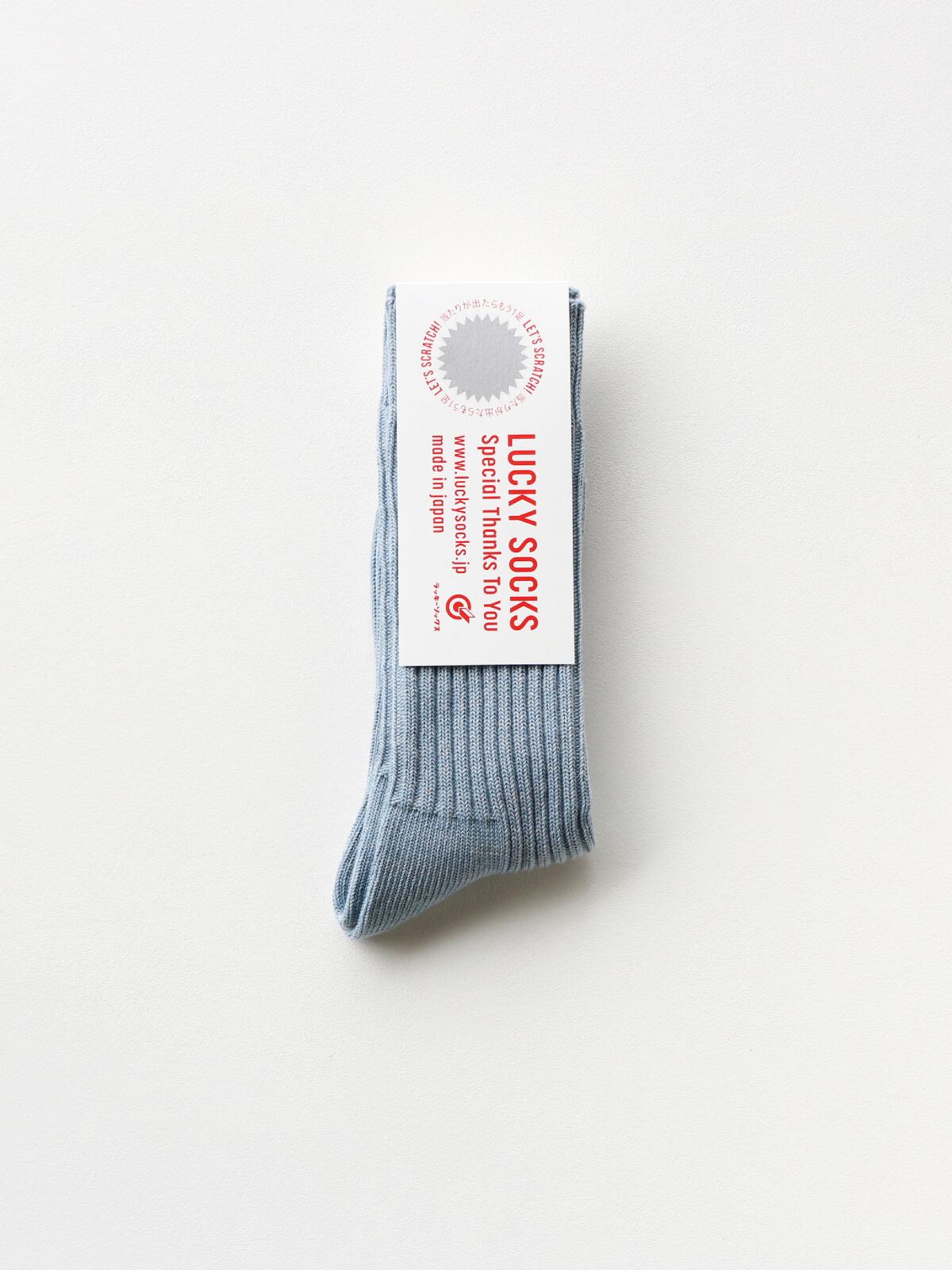 【入荷時お届けの予約販売】スムースリブソックス / スチールブルー
