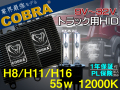 COBRA,24v,トラック,H8,H11,H16,12000