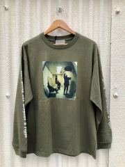 BROW ブロウ L/S TEE メンズフォトプリントロンT OLIVE 緑 GETO BOYS 長袖 Jamil GS 両袖プリント COTTON 綿