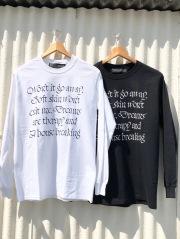 Non-type ノンタイプ HOUSE BREAKING LS TEE メンズ長袖メッセージプリントTシャツ WHITE 白 BLACK 黒 COTTON BURNING ROSE RECORDS 送料無料