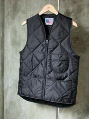SNAP'N'WEAR QUILTED NYLON VEST BLACK 黒 スナップン ウェア キルティング ナイロン ベスト ワークベスト メンズ トップス MADE IN U.S.A 米国製