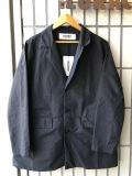BASISBROEK バージスブルック ESPE ユニセックスラペルジャケット ドロップショルダー COTTON 綿 SILK 絹 ブラック 黒 BELGIUM ベルギー製 送料無料