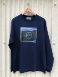 [SALE商品] BROW ブロウ L/S TEE メンズフォトプリントロンT NAVY 紺 LA LAZA 長袖 Jamil GS 両面プリント COTTON 綿