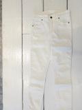 [SALE商品!] KSUBI スビ HI & WASTED CROP クロップドホワイトスキニー レディース 白 アメリカ製
