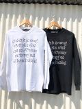 [SALE!] Non-type ノンタイプ HOUSE BREAKING LS TEE メンズ長袖メッセージプリントTシャツ WHITE 白 BLACK 黒 COTTON BURNING ROSE RECORDS