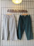 SUNDAY WORKS サンデーワークス PHILLY PANTS ユニセックスワイドパンツ 太畝コーデュロイ MADE IN USA アメリカ製 BOTTLE 緑 GREY 灰色 バギーパンツ 送料無料