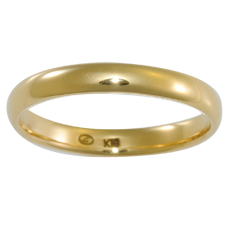 Link Love - ・・・& - K18 3mm甲丸Lリング