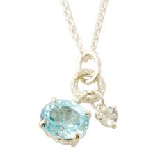 wishing stone pendant - SV ウィッシングストーンペンダント ブルー