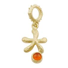 Hieroglyph - Charm of wish - K18 シリウス ファイヤーオパールペンダントヘッド