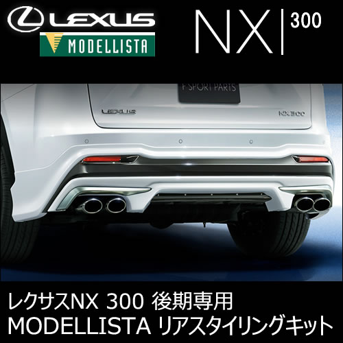 レクサス NX(後期)専用 MODELLISTA リアスタイリングキット