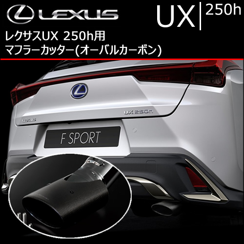 レクサス UX 250h用 マフラーカッター(オーバルカーボン)