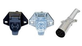 【0102-02/0102-01】7極電源コネクター 車側/トレーラ側