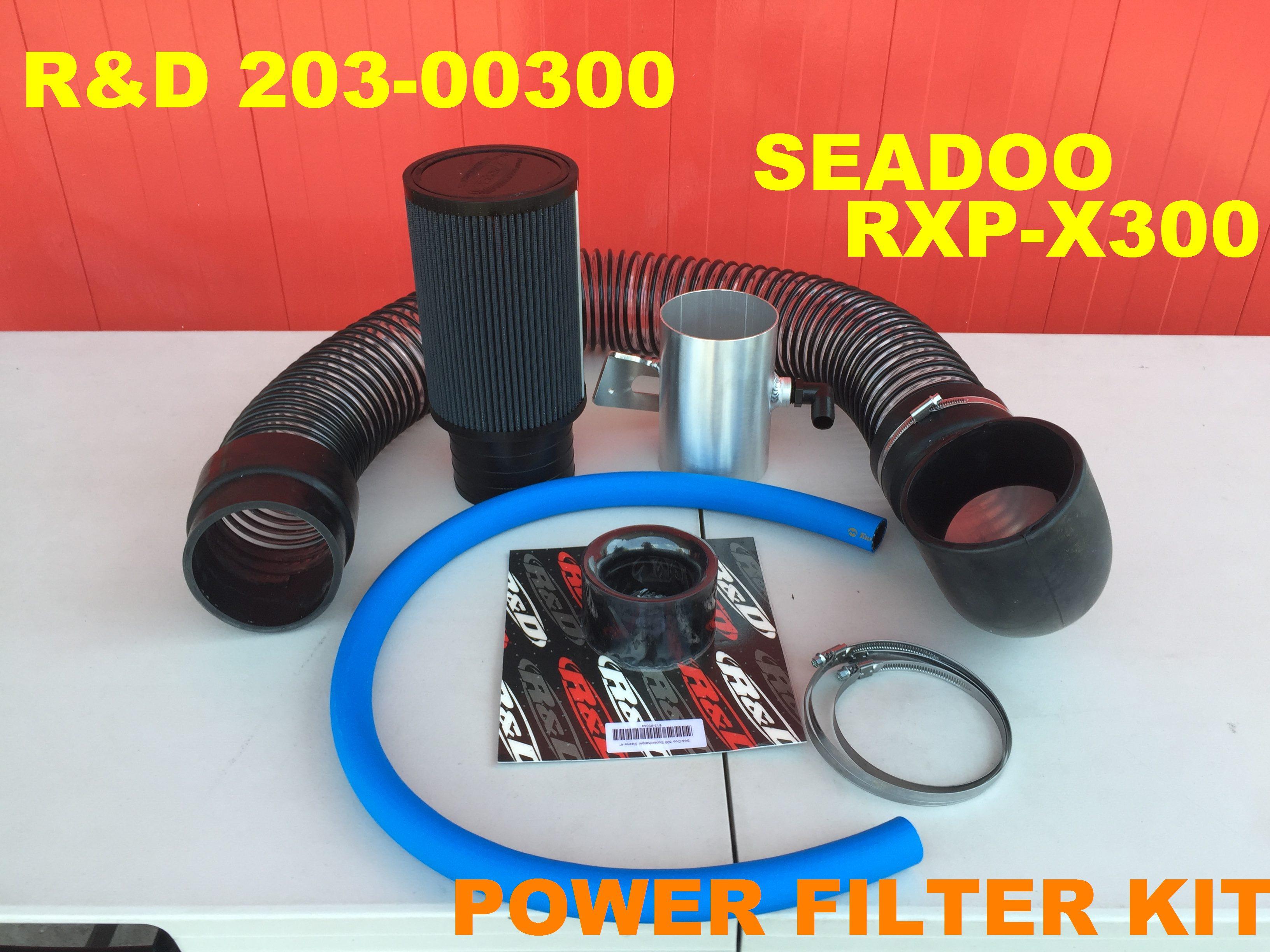 """【203-00300】R&D Pro Series 4"""" Air Filter Kit Seadoo RXP-X300/RXT-X300"""
