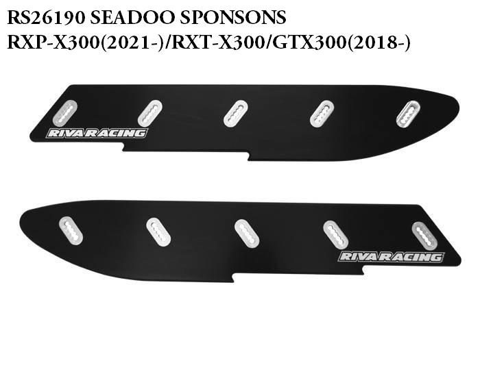【RS26190】RIVA PRO-SERIES SPONSON KIT SEADOO RXP-300(21-)/RXT-X,GTX300,WAKE230