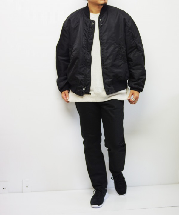 Engineered Garments/エンジニアド ガーメンツ Aviator Jacket - Flight Satin Nylon (全2色)