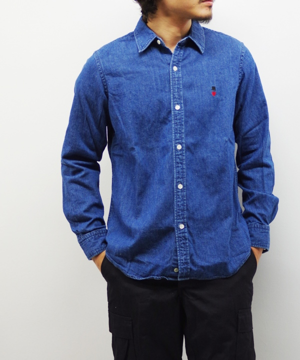 Bohemians/ボヘミアンズ DENIM REG LS SHIRTS
