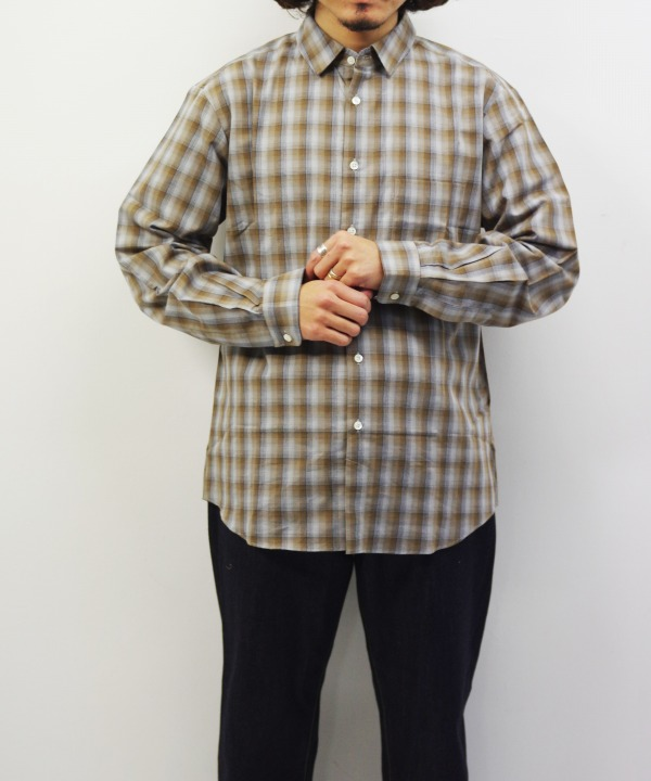Manual Alphabet/マニュアルアルファベット CT LOOSE FIT REGULAR COLLAR CHECK SHT